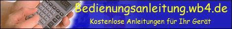 Die Seite Bedienungsanleitung auf wb4.de bietet und sucht kostenlose Bedienungsanleitungen und Gebrauchsanweisungen   für Fernseher - Stereoanlagen - Receiver - CD und DVD-Player - HiFi Anlagen - Computer - Drucker - Faxgeräte - Telefone - Handys - Digitalkameras und vieles mehr. Schauen Sie einfach mal rein !